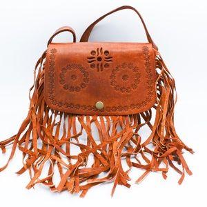 Handbags - 🤚Handmade Fringe Leather Bag HM050